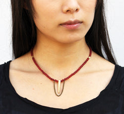 Red Agate Necklace - MERCe