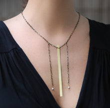 Load image into Gallery viewer, Simple Necklace - Minimalist Necklace with Brass Strip - MERCe
