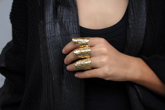 Boske Ring - Big gold statement ring