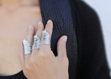 Load image into Gallery viewer, Boske Silver Ring - Big solid silver ring