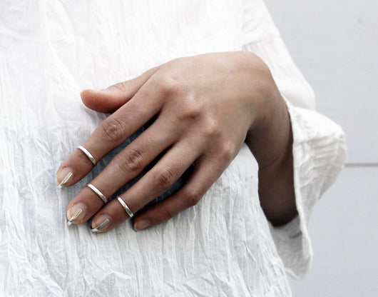 Cage Ring - Silver fingernail ring - MERCe