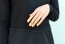 Load image into Gallery viewer, Cage Ring - Gold Fingernail Ring - MERCe