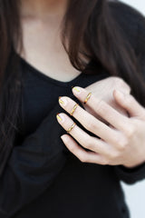 Cage Ring - Gold Fingernail Ring - MERCe