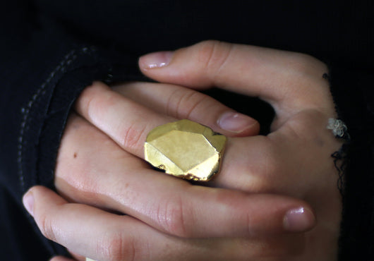 Big Stone Gold Filled Ring