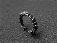 Load image into Gallery viewer, Crown Ring - Oxidized Silver Nugget Ring - MERCe