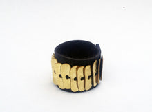 Load image into Gallery viewer, Mula Ring - Handmade Leather and Bronze Ring - MERCe