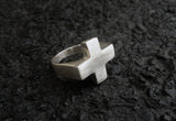 Plus Ring - Sterling Silver Plus Sign Ring - MERCe