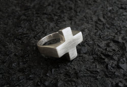 Sterling Silver Plus Sign Ring