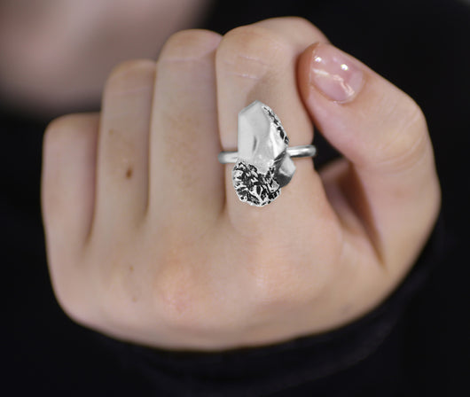 Rokita - Silver Nugget Ring - MERCe