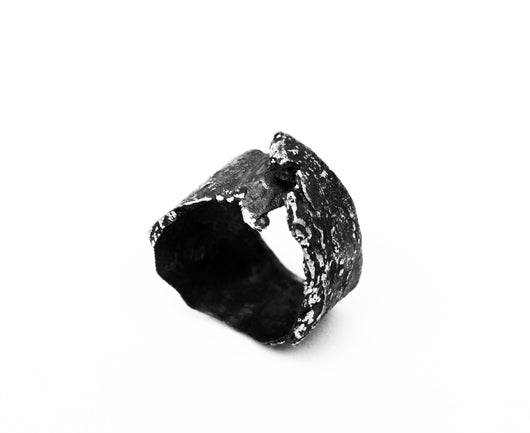 Rotura Ring - Oxidized Sterling Silver Ring - MERCe