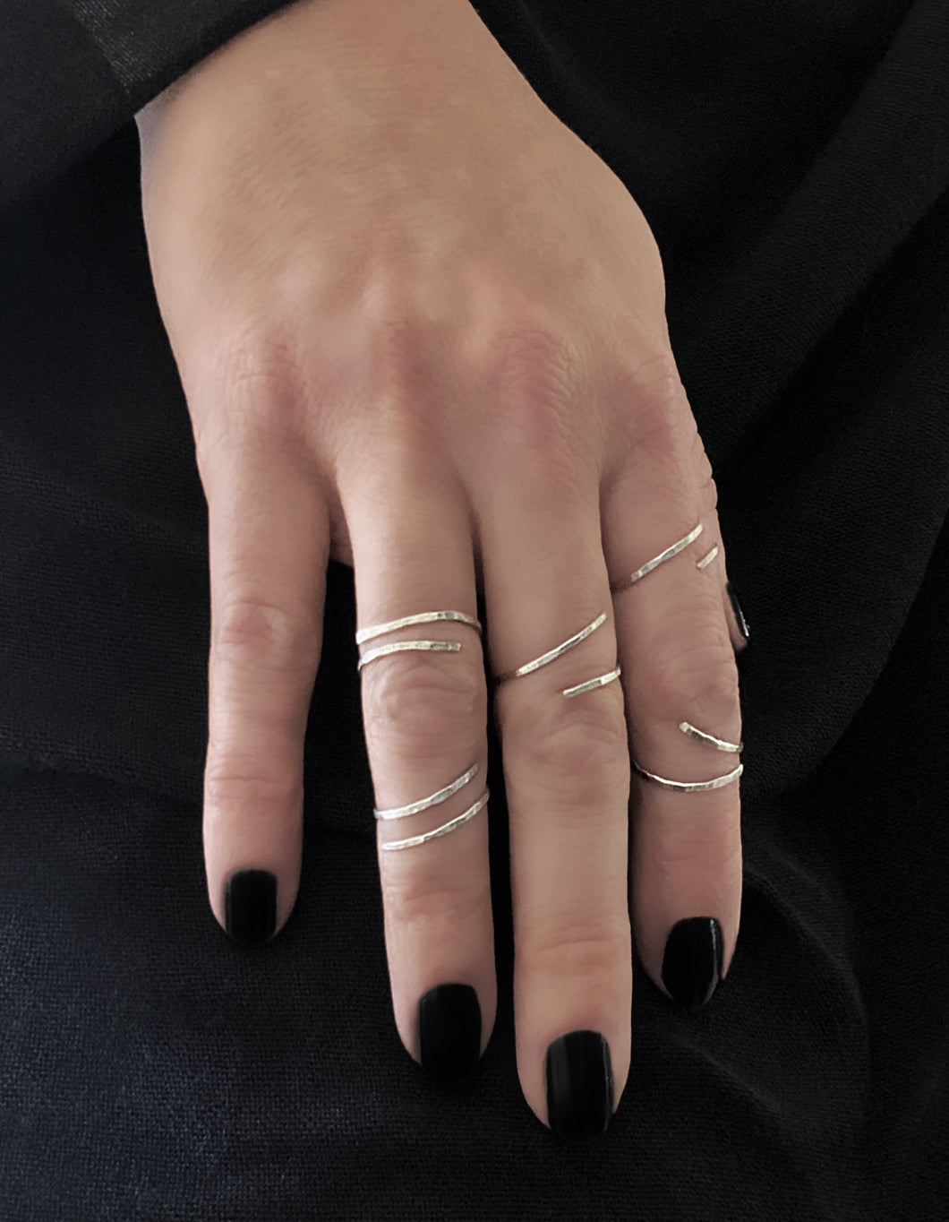 Tato Rings - Set of 5 Stackable Sterling Silver Rings