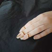 Load and play video in Gallery viewer, Cage Ring - Gold Fingernail Ring