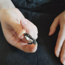 Load and play video in Gallery viewer, Crown Ring - Oxidized Silver Nugget Ring