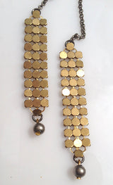 Open Statement Necklace with Brass Chainmail - MERCe