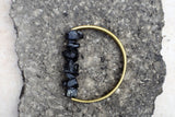 Black Tourmaline and Handcrafted Brass Bracelet - MERCe