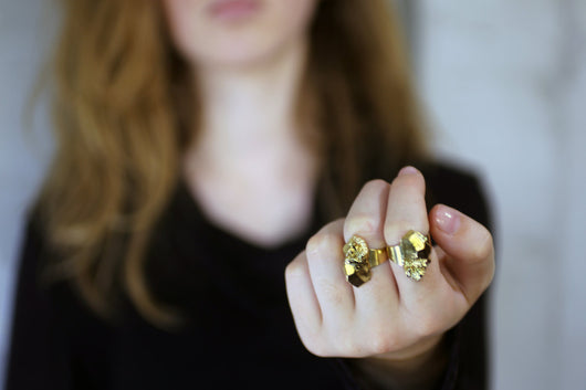 Rokita Gold Earring - Gold Filled Nugget Ring - MERCe