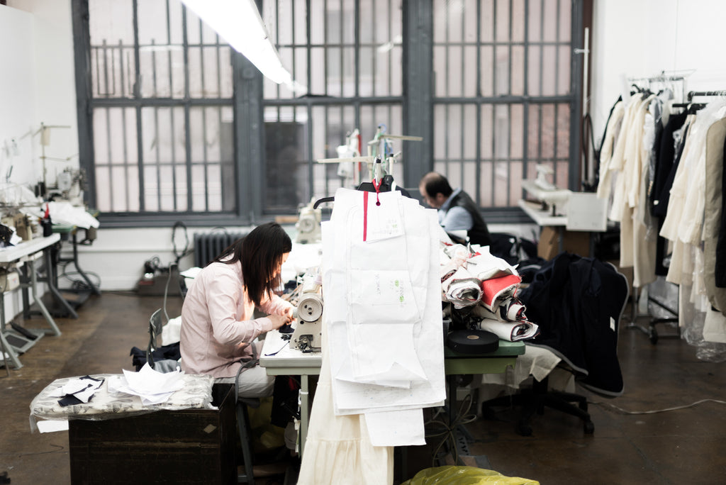 Our manufacturing space in the Garment District.