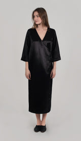 ROWAN BUTTON FRONT ROBE DRESS