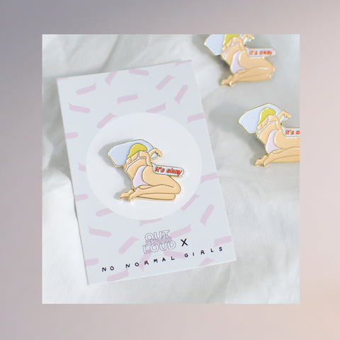 It's Okay Enamel Pin - Vanilla