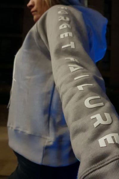Forget Failure Womens Grey Hoody
