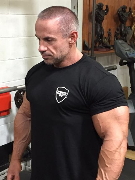 Black Fitted Shield T-shirt