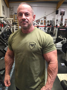 Khaki Green Fitted Shield T-shirt