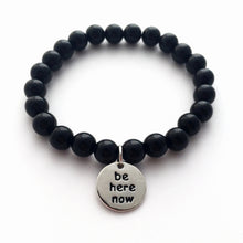 be here now bracelet - black
