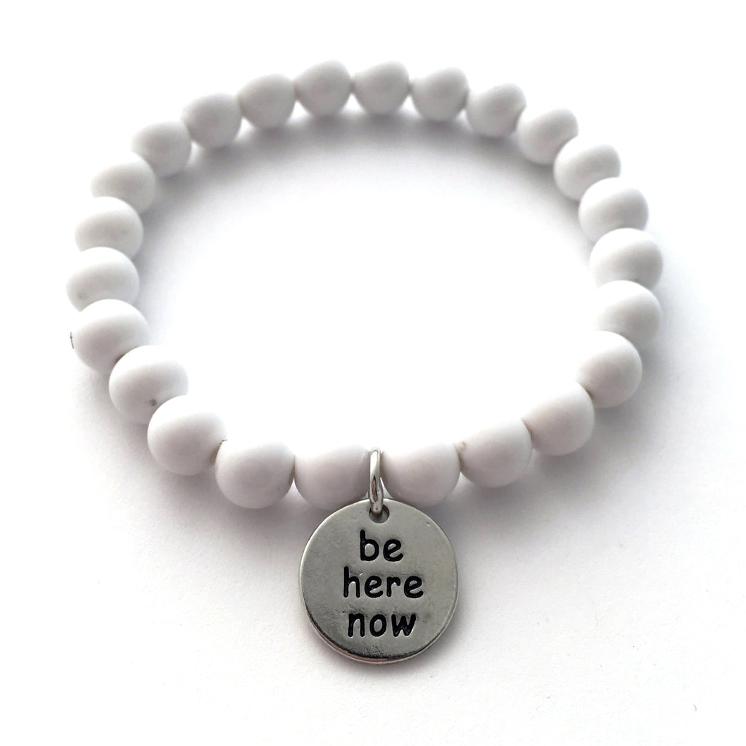 be here now bracelet - white