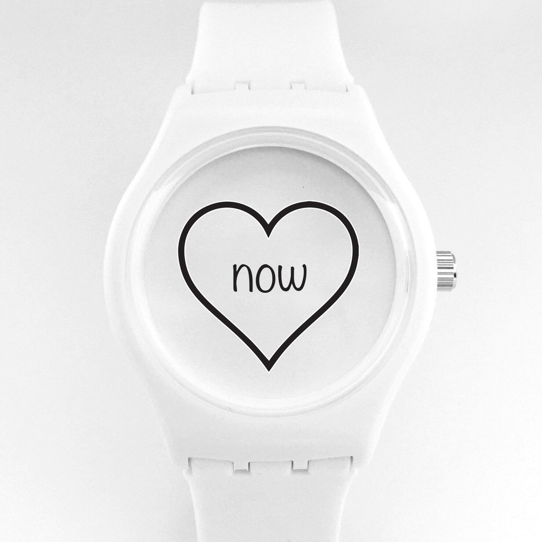 love now watch - white