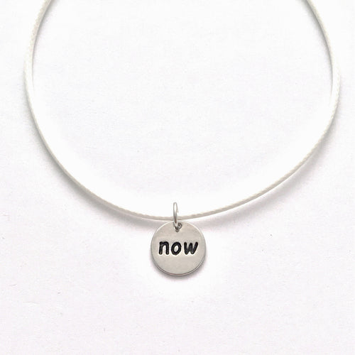 now necklace - white