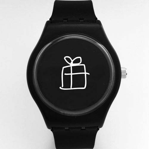 present watch-black