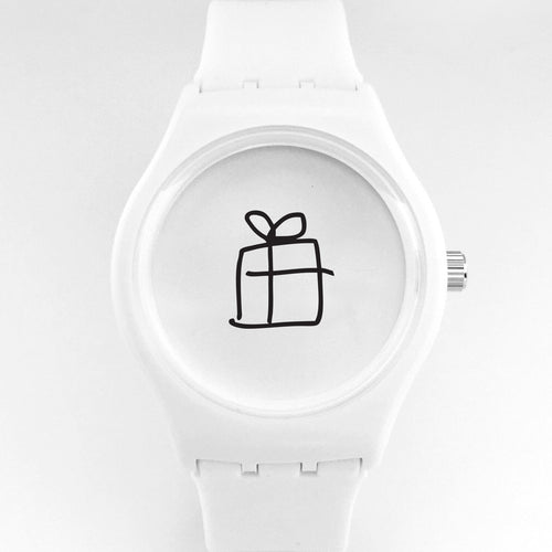present watch-white
