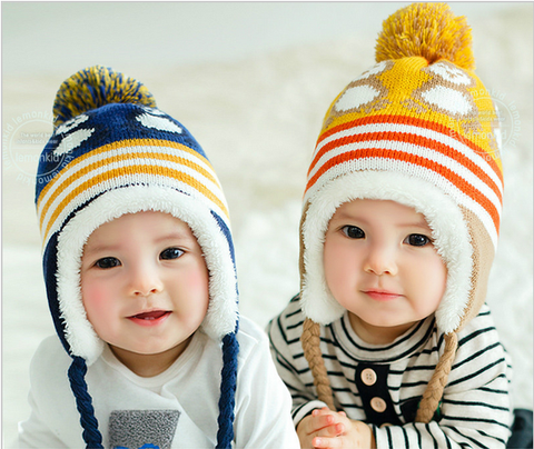 2016 winter new baby hat cute penguin newborn hat baby colorful baby winter hat baby hedging cap