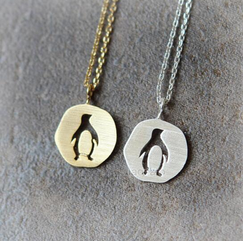 1pc Pendant Necklace Cutout Penguin Necklace Animal Necklaces Pendants For Women