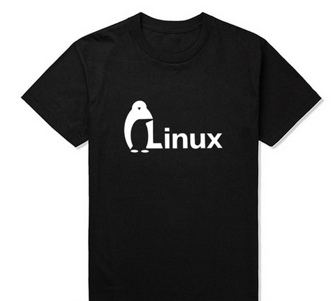The Dark Knight LINUX penguin Logo T Shirt Men new Fashion short-sleeved Brand wordart of LINUX T-shirt summer
