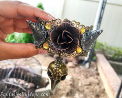 Adjustable Victorian Steampunk Bracelet With Rhinestones - HottestTrendsPrint