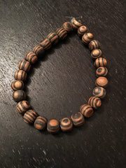 Striped Amber Wood Bracelet