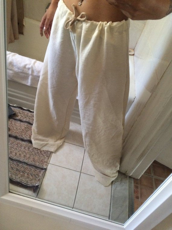 Men / Woman Tan Boho Pants - HottestTrendsPrint