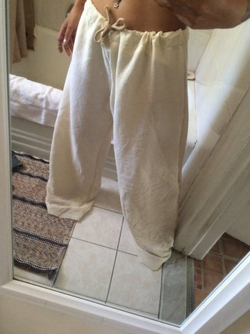 Men / Woman Tan Boho Pants