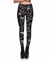 Skull Ghost Pumpkin Leggings