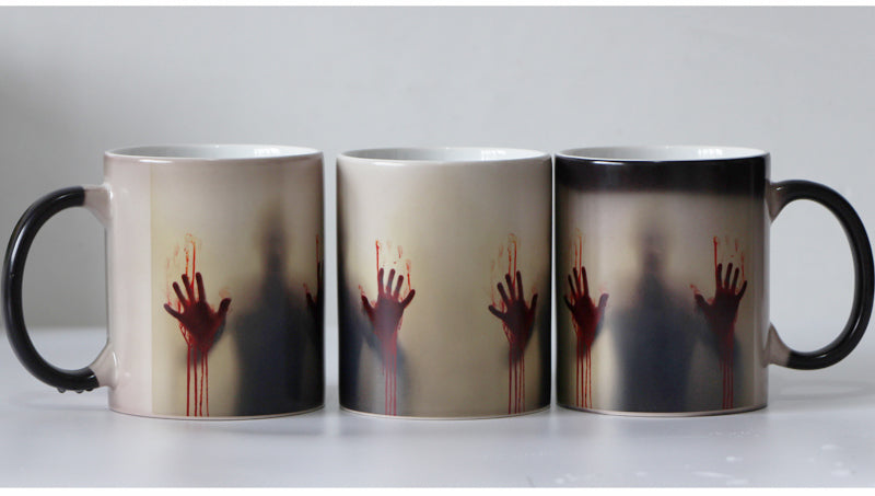 The Walking Dead Zombie Color Changing Coffee Mug  Heat sensitive - FREE SHIPPING ! Magic Tea cup mugs Christmas Gift- Halloween - Black Ceramic - HottestTrendsPrint