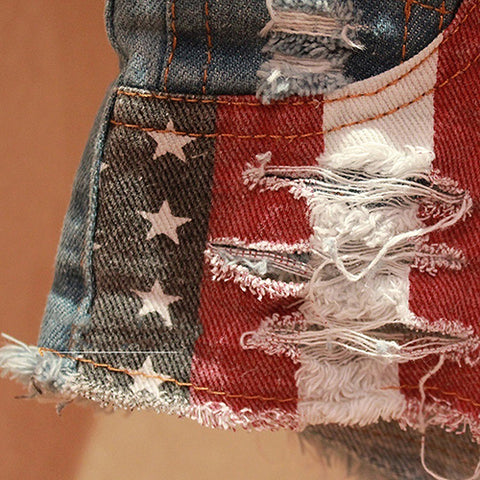 American Flag Shorts - Jeans - Woman