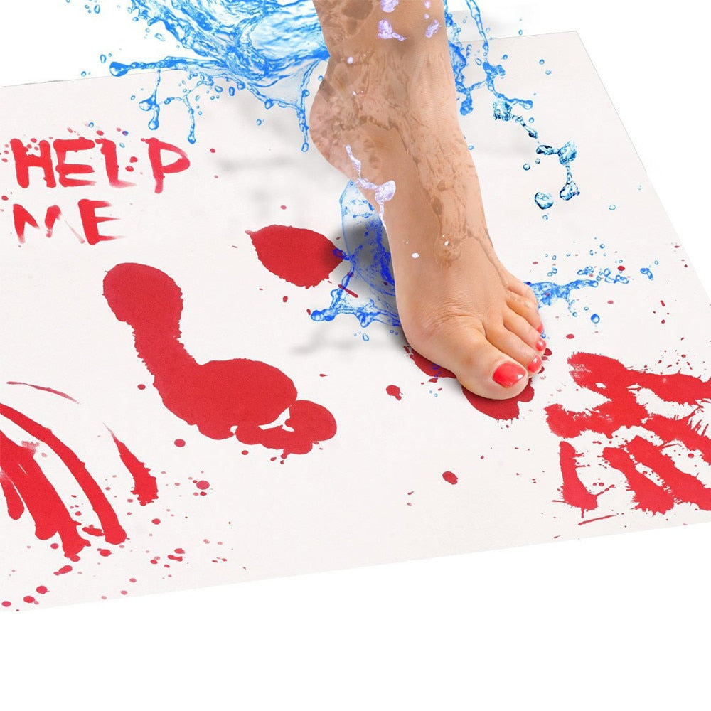 Halloween Bloody Bath Mat Color Changing Sheet