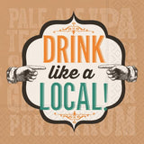 DRINK LIKE A LOCAL - BEVERAGE NAPKIN - Royal Birkdale Boutique
