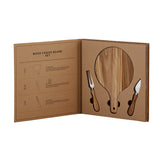 WOOD CHEESE BOARD - CARDBOARD BOOK SET - Royal Birkdale Boutique