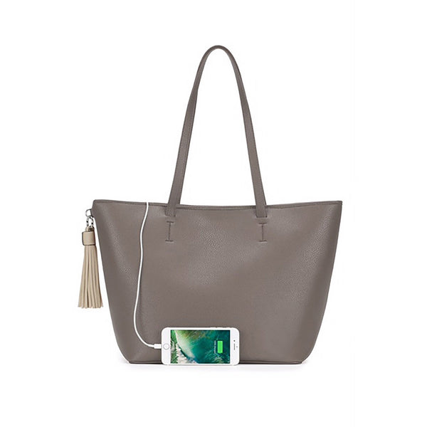 "CHIC BUDS ""TOTEL POWER"" SMARTPHONE CHARGING TOTE - Royal Birkdale Boutique"