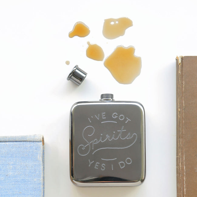 I'VE GOT SPIRITS - POCKET FLASK - Royal Birkdale Boutique