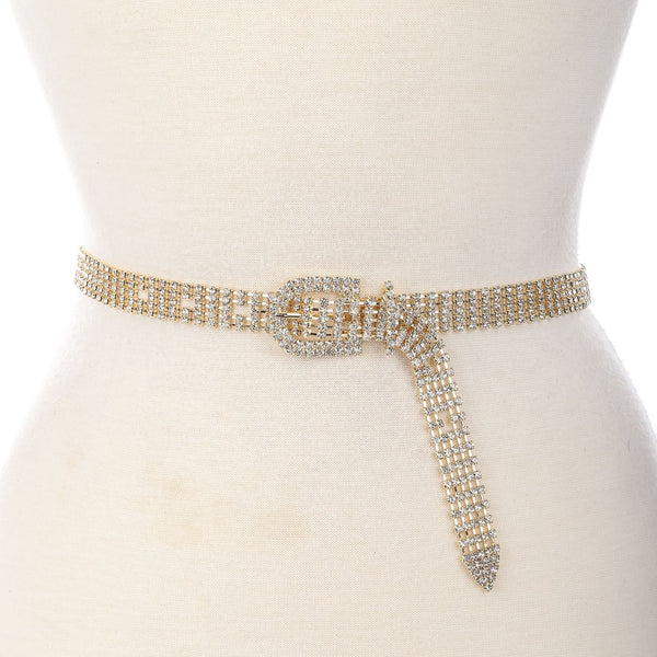 GLAM RHINESTONE CHAIN BELT - Royal Birkdale Boutique