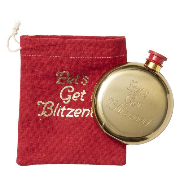 LET'S GET BLITZENED - GOLD FLASK