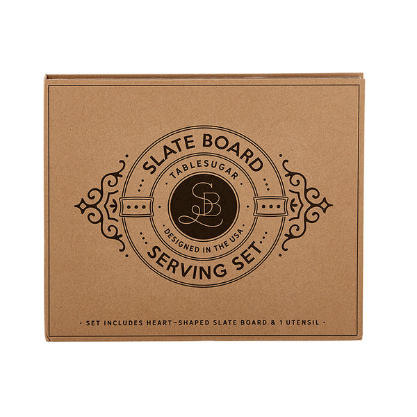 SLATE BOARD SERVING SET - CARDBOARD BOOK SET - Royal Birkdale Boutique